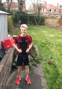 Danny in his garden
